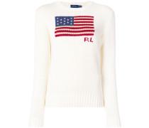 Pullover mit 'American Flag' Motiv