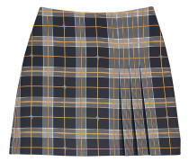 Pleat Detail Check Mini Skirt