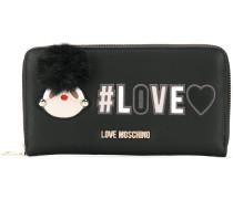 pompom detail wallet