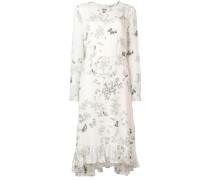 floral flared midi dress