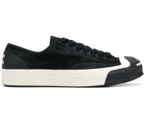 two-tone lace up sneakers