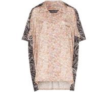 Oversized-Hemd mit Paisley-Print