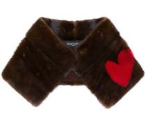 Schal mit Herzstickerei