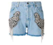 embellished cut off shorts