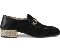 Horsebit Loafer mit GG und Kristallen