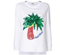 Sweatshirt mit aufgesticktem Palmenmotiv