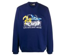 Sweatshirt mit Airline-Print