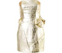 Kleid aus Seide und Leder