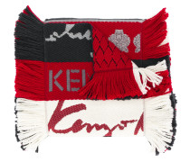 fringed striped scarf