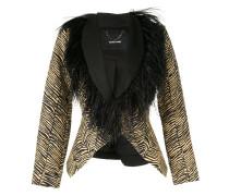 Taillierte Jacke mit Zebramuster