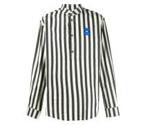 Gestreiftes Hemd mit Logo-Patch