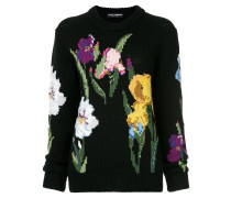 floral fitted sweater