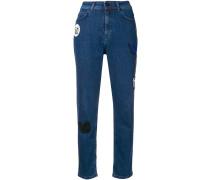 Hoch sitzende Jeans