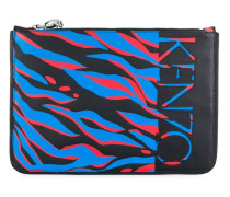 Clutch mit Tiger-Print