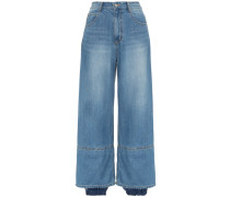 Jeans im Lagen-Look