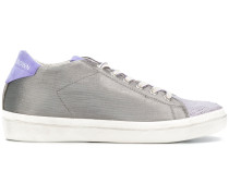 metallic low-top sneakers