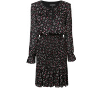 Geblümtes Kleid mit Rüschenkragen