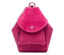fuchsia Fernweh Mini suede backpack