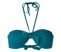 Bandeau-Bikini mit Raffung