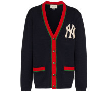 Embroidered Yankees Logo Tricolour Cardigan