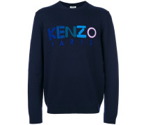 Woll-Sweatshirt mit Logo-Stickerei