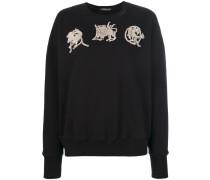 Sweatshirt mit AMQ-Stickerei