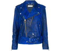crystal-embellished biker jacket