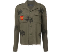 Hemd im Military-Look mit Palmen-Print
