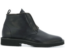 chain trim lace-up boots