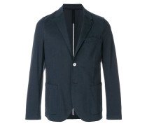 raw-edge trim blazer