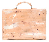 paint splattered briefcase