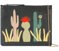 cactus patch clutch bag