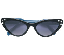 Cat-Eye-Sonnenbrille mit Kristallen