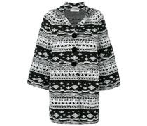 patterned oversized coat