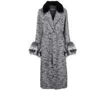 Mantel mit Pelzdetail