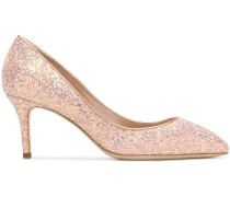 pointed toe glitter pumps