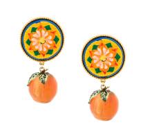 Majolica mandarin earrings