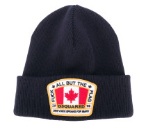 Canadian flag patch beanie