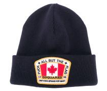 Wollmütze mit kanadischem Flaggen-Patch