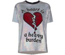 Pailletten-T-Shirt mit Herzmotiv