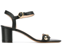 chunky heeled ruffle strap sandals