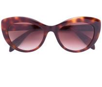 Cat-Eye-Sonnenbrille mit Schildpattoptik