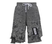 'Rave' Shorts mit ausgeblichenem Effekt