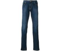 Schmale Stone-Wash-Jeans