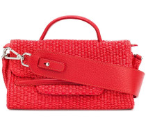 flap woven tote
