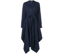asymmetric poplin maxi dress