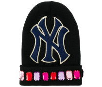 Beanie mit NY-Yankees-Patch