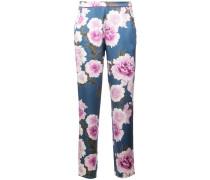 Pyjama-Hose mit Blütenmuster