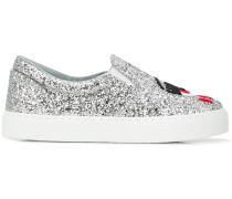 Slip-On-Sneakers im Glitter-Look