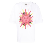 T-Shirt mit Sonnen-Print